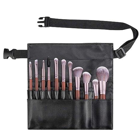 Color You - Estuche profesional para brochas de maquillaje, portátil, 22 bolsillos, organizador para brochas de maquillaje con correa de piel ...