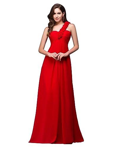 GRACE KARIN One-Shoulder Chiffon Evening Wedding Party Dresses