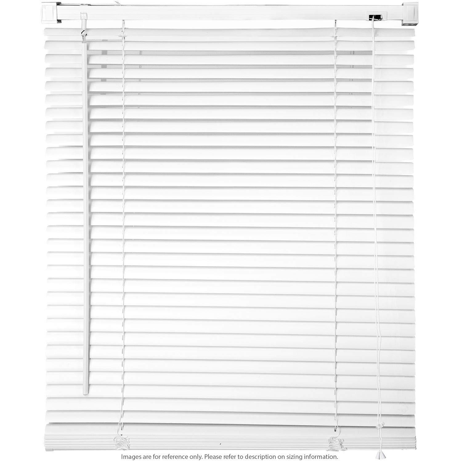 44 W x 64 H Window Blinds 1 Slat PVC Vinyl Venetian Horizontal Privacy Shade Anti-UV White KapscoMoto