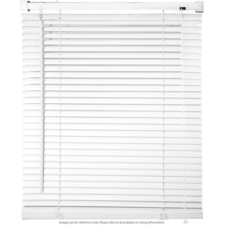 28 W x 64 H Window Blinds 1 Slat PVC Vinyl Venetian Horizontal Privacy Shade Anti-UV White KapscoMoto