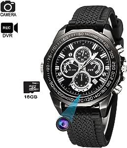 Hidden Spy Camera Watch - KAPOSEV 1080P HD Security Hidden Camera - Mini Video Recorder Watch - Built-in 16GB MicroSD Memory Card
