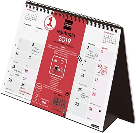 Finocam 780600019 - Calendario sobremesa 2019, Euskera: Amazon.es ...