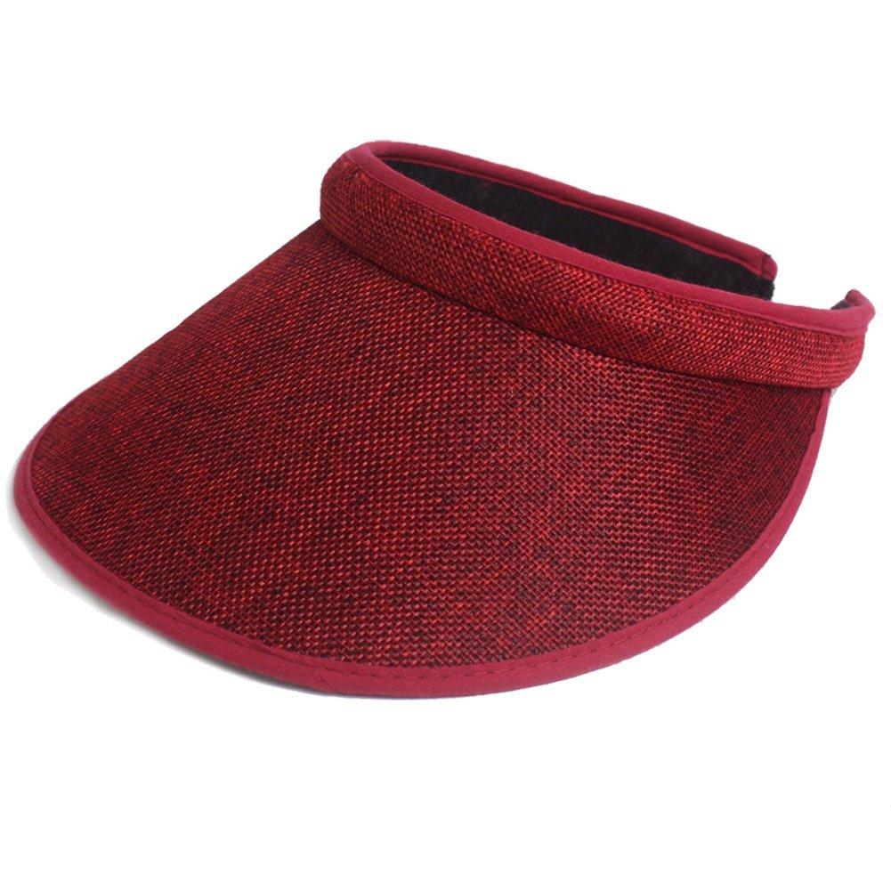 Preferhouse Women's Solid Visor Cap UV Protection Hat Low Profile PRE-111512-Beige