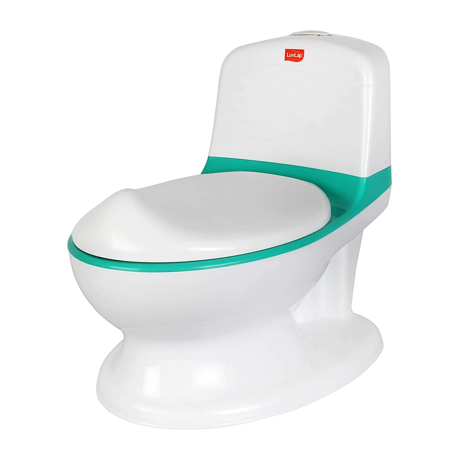 LuvLap Comfy Baby Potty Seat with Flush Sound (Green)