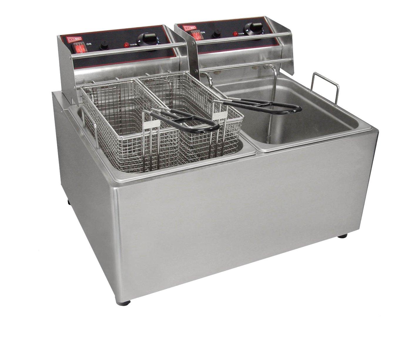 Amazon.com: Grindmaster-Cecilware EL2X25 Countertop Electric Fryer ...