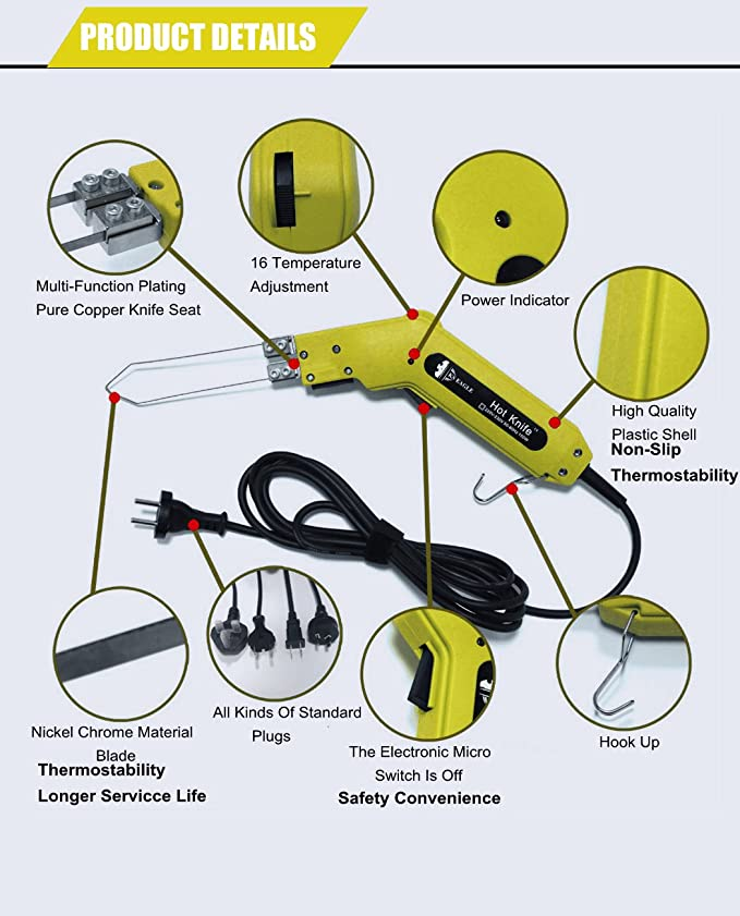 Admirable Amazon Com Tco Hot Knife Foam Cutting Kit 150W 120V 10 In 1 Wiring Cloud Nuvitbieswglorg