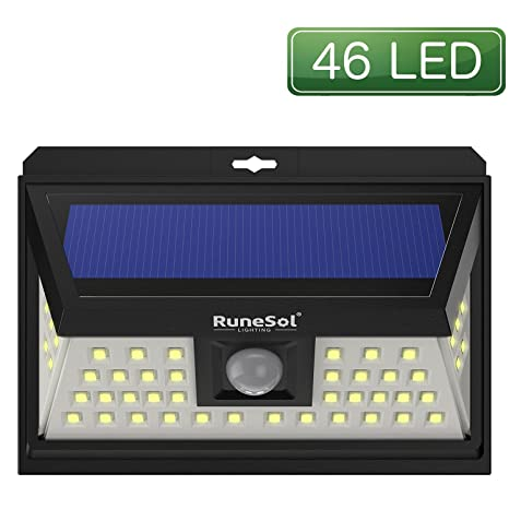 Luces 46 LED Runesol® con sensor | Lámpara Solares Con 46 Luces LED | Luz