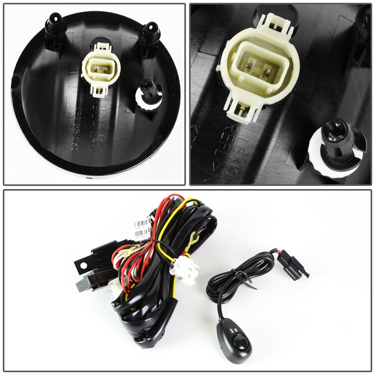 For Gmc Sierra Pair Of Bumper Driving Fog Lights Winjetr Led Wiring Kit 01 Light 1 Plug Switch Smoked Lens Automotive