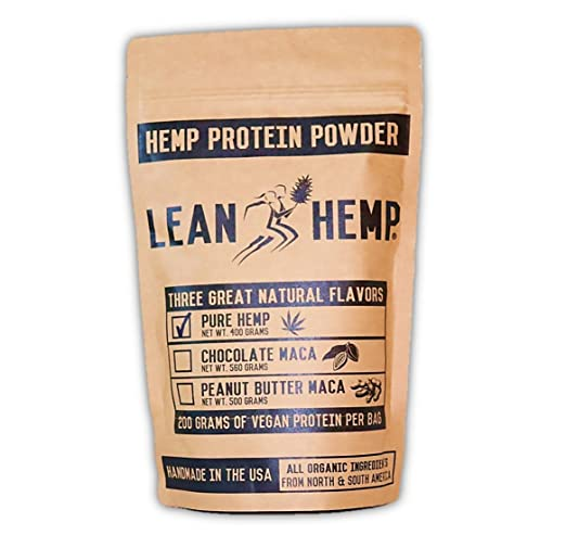 Pure Hemp Protein Powder by Lean Hemp – Organic, Vegan, Hi-Fiber – 50% Protein
