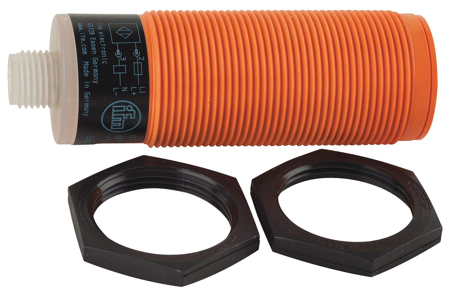 IFM Cylindrical Proximity Sensor, Plastic Basic Material, 2 Wire Circuit Type, NO/NC Output Mode - KI0054