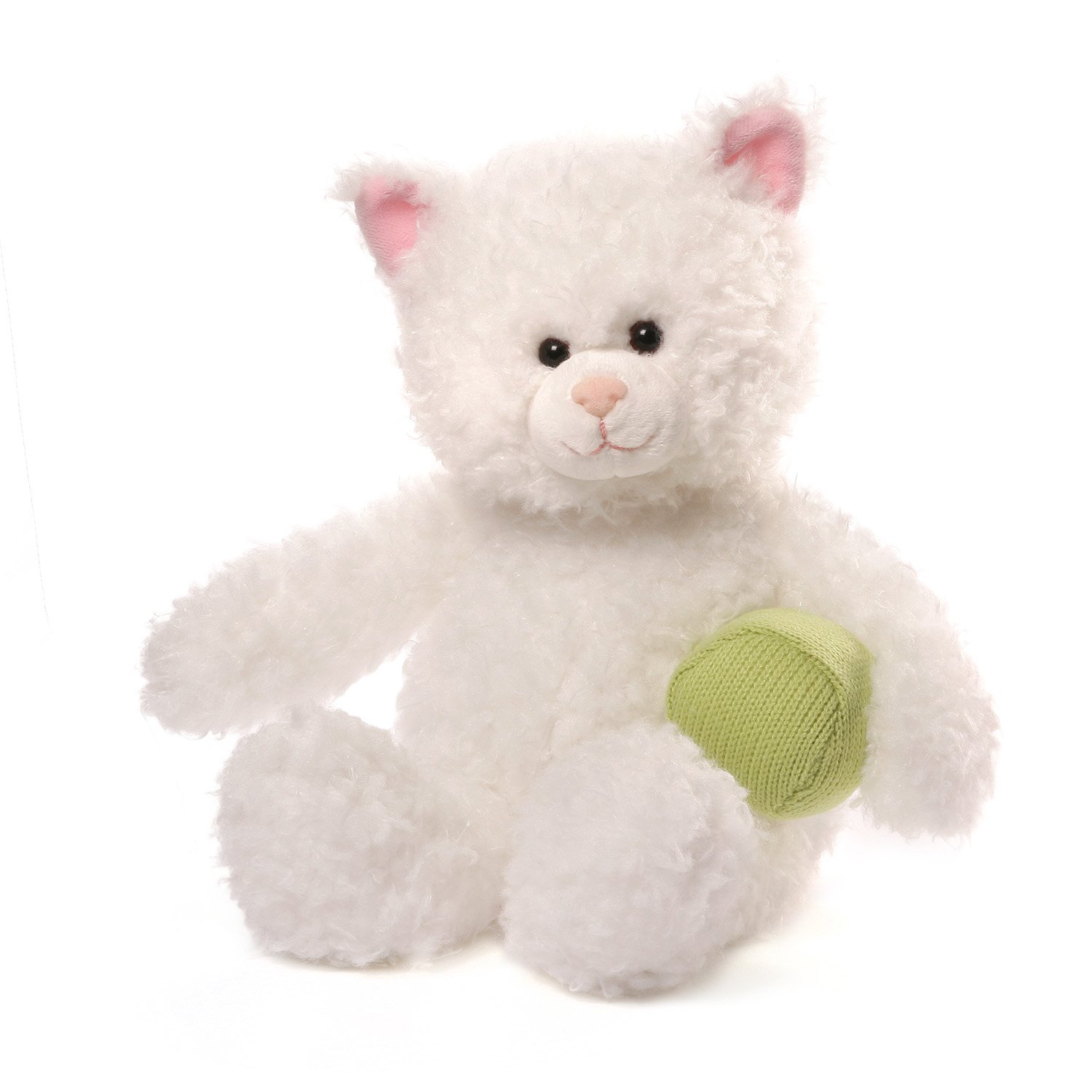 Amazon Com Gund Mimi Cat Stuffed Animal Plush White 13 Toys Games