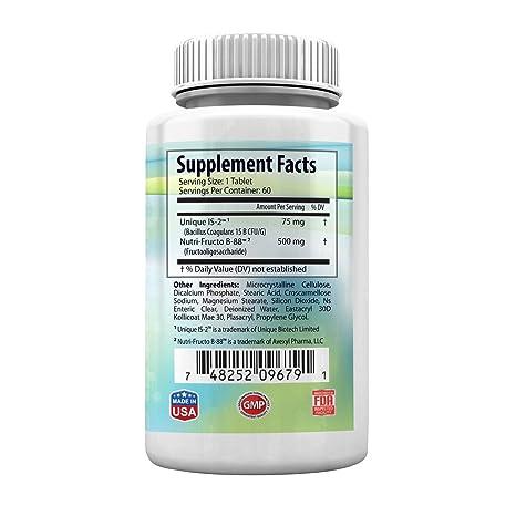 Amazon.com: El mejor suplemento probiótico. Libre de gluten ...