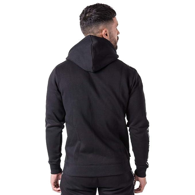 26479b85cdc9ef Gym King Taped Zip Hood Track Top: Amazon.co.uk: Clothing