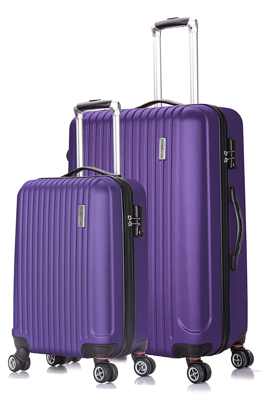5e3e97dffbbc TravelCross Berkeley Classic Luggage Lightweight Spinner Set - Purple, 2  piece (20''/ 28'')
