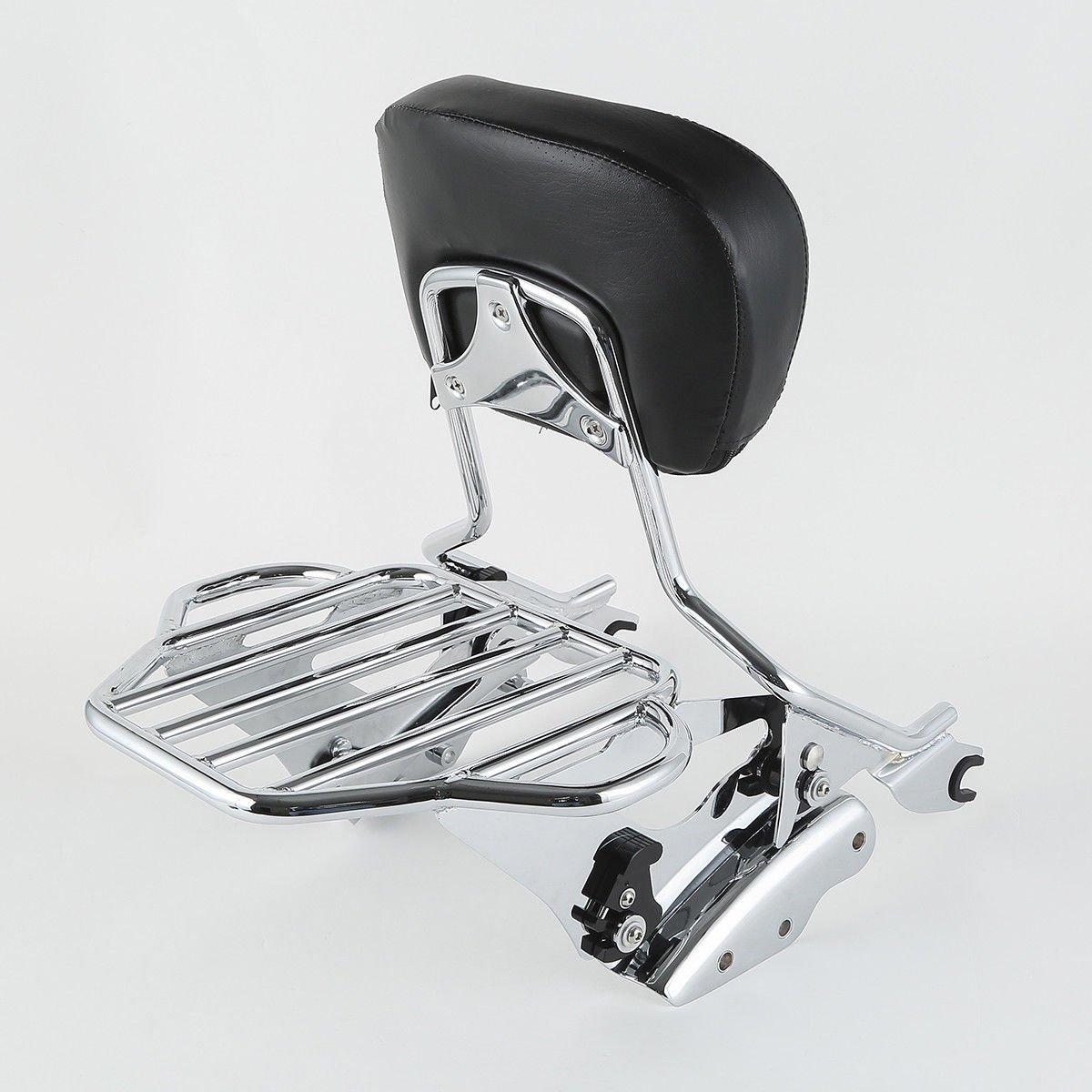 XFMT H-D Detachables Tall Sissy Bar Upright-Short Powersports Sissy Bars Passenger Backrest Luggage Rack 4 Point Docking Kit Compatible with 2009-2013 Harley Davidson Touring Model