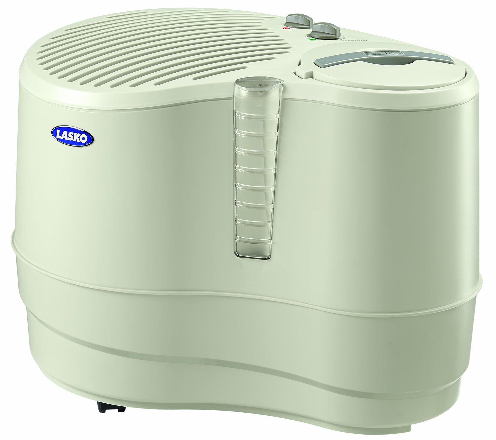Lasko 1128 Evaporative Recirculating Humidifier, 9-Gallon