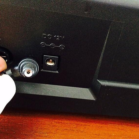 ABC Products® Reemplazo del cable de Casio DC 12V / 12V Adaptador Adaptador Fuente de alimentación / Adaptador de corriente (AD-12M3, AD-12MLA(U), AD-12MLA, ...