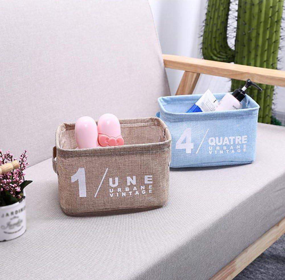 20*17*15 cm rose Baumwolle und Bettzeug fablcrew Aufbewahrungskorb Organizer Unterw/äsche Badezimmer Wohnzimmer Desktop Aufbewahrungsbox Halter