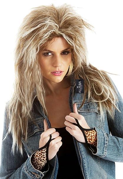 Amazoncom Deluxe Tina Turner Costume Wig 80s Rocker Wigs Women
