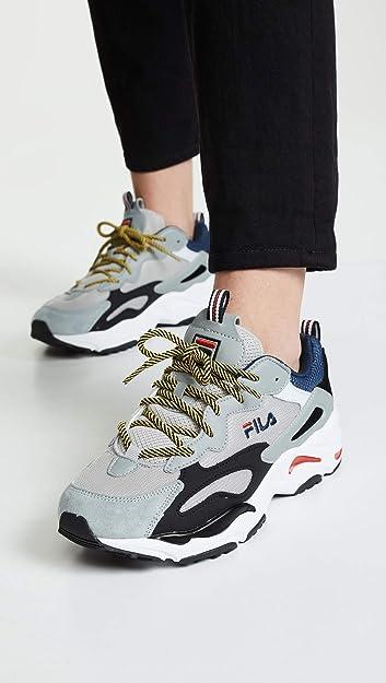 Fila Women's Ray Tracer Sneakers, BlueWhiteBlack, 10 M US
