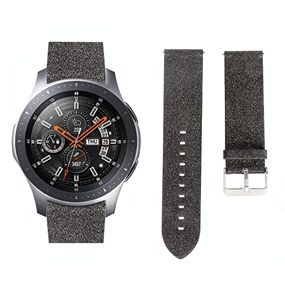 Amazon.com: Saying Pure Color Bing Siny Latather Watch Bands ...