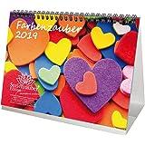 Color mágica · DIN A5· Premium mesa/Calendario 2019· Colours · Colores · Set de regalo con 1tarjeta de felicitación y 1Tarjeta de Navidad (· Edition Alma mágica