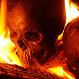 Fire Pit Skull Full-size Human Replica Fire Pit Fireplace Logs (5)