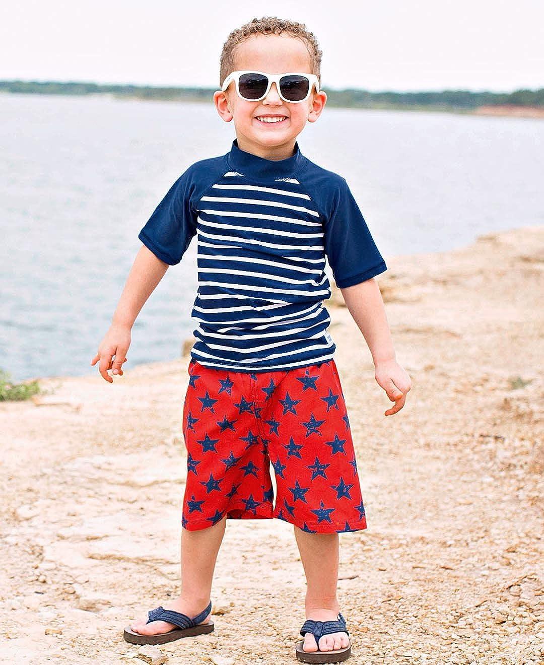 b0f9e3fc21272 Boys RuggedButts Baby/Toddler Boys Swim Trunks w/Adjustable Waistband  BWSRD06-NVSR