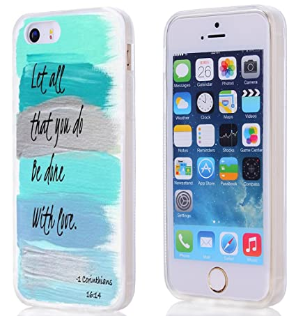 Case For Iphone 5S SE 5 Christian Quotes Bible Verses 1
