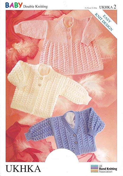 64af6a367 UKHKA 2 Baby Double Knitting DK Pattern For Easy Knit Beginner ...