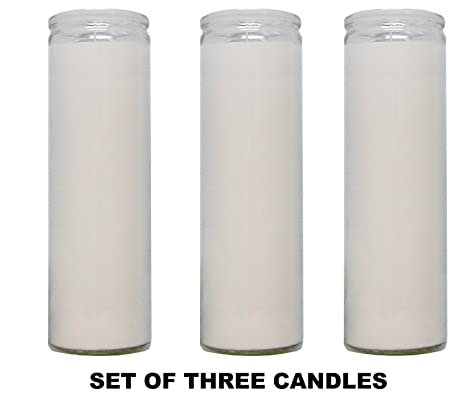 Amazon com: 1 X Clear Glass White Paraffin Wax Candles 3