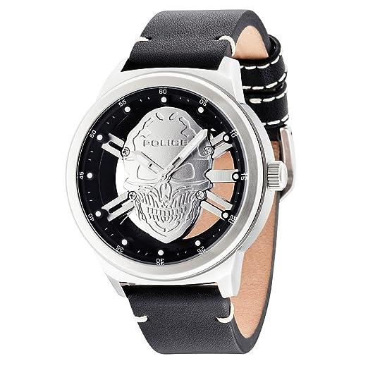 Police Reloj Analogico para Hombre de Cuarzo con Correa en Piel PL14685JS.04: Amazon.es: Relojes