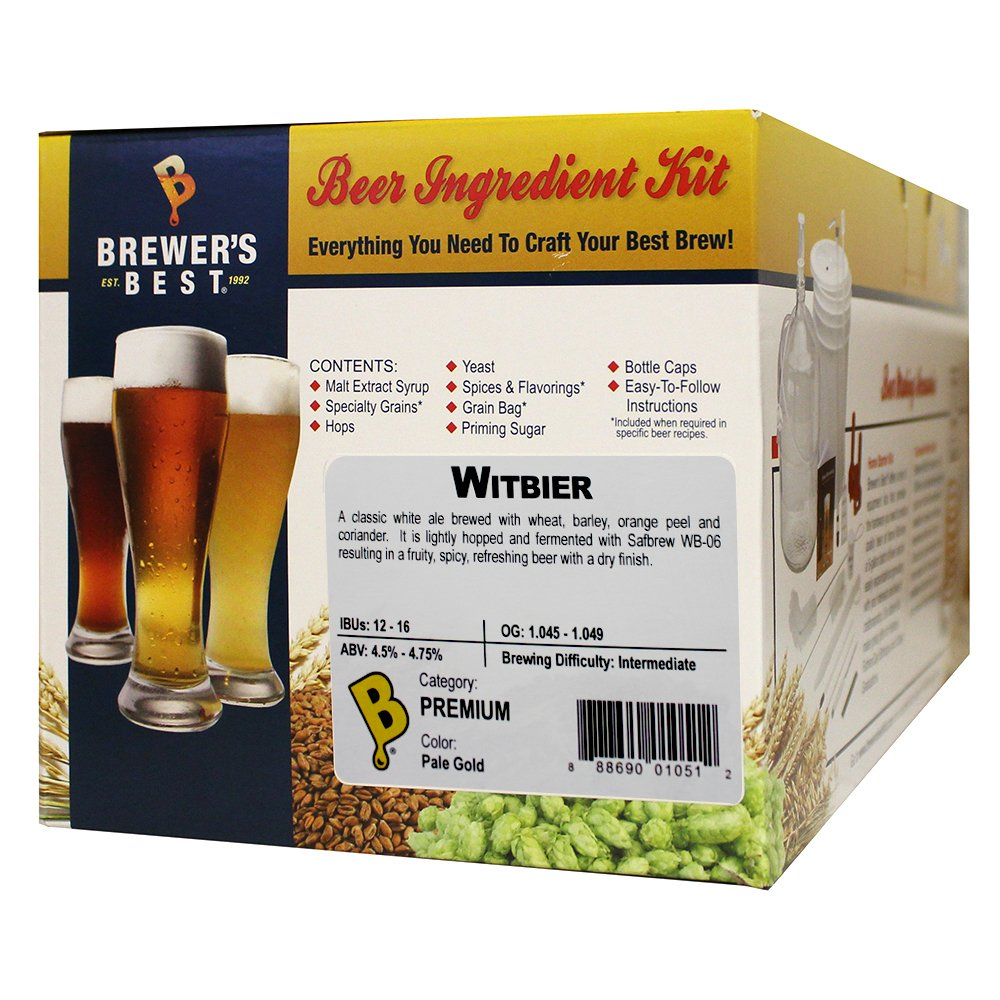 Brewer's Best - Home Brew Beer Ingredient Kit (5 Gallon), (Witbier)
