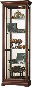 Howard Miller Brantley VI Curio Display Cabinet, Cherry Bordeaux