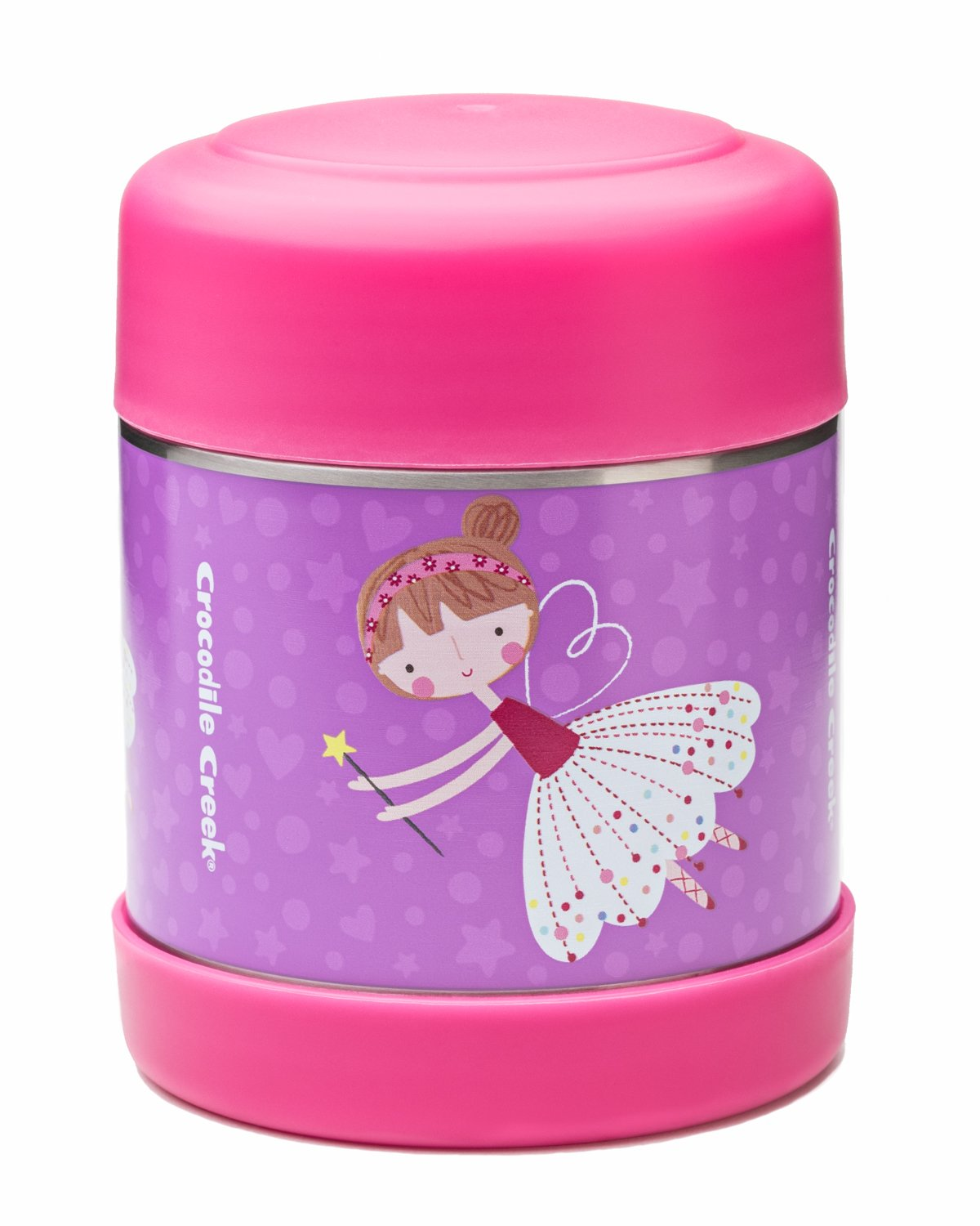 Crocodile Creek Eco-Kids Sweet Dreams Ballerina Insulated Thermal Food Jar, 10 oz, Purple