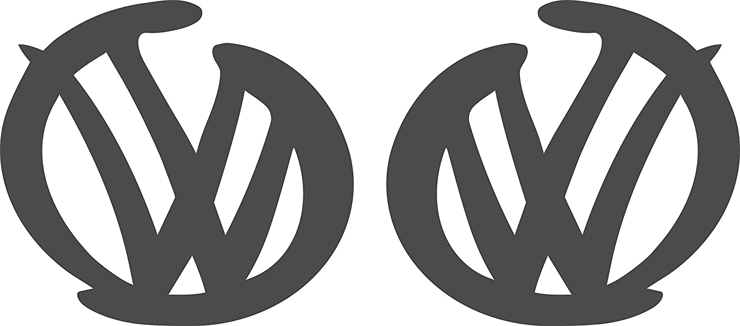 "Volkswagen VW Extra Large 17/"" logo Decal Stickers X2 Transporter T5 T4 Campervan"
