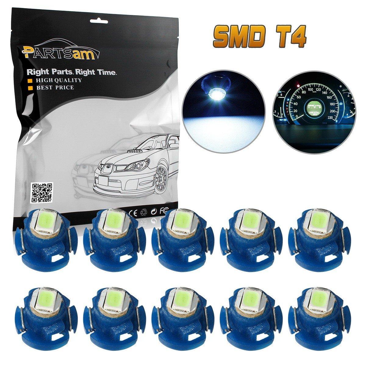 Partsam Heater A C Climate Control Dash Light Bulb Kit 2003 Saturn Lights T42 Neo Wedge Ice Blue Led Set Of 10 Bulbs Automotive