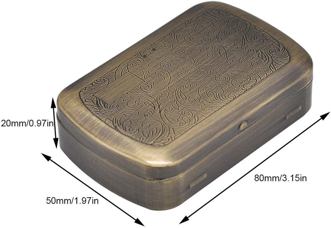 EmNarsissus Tragbare Metall Zigarettenetui Metall Raucherbox ...