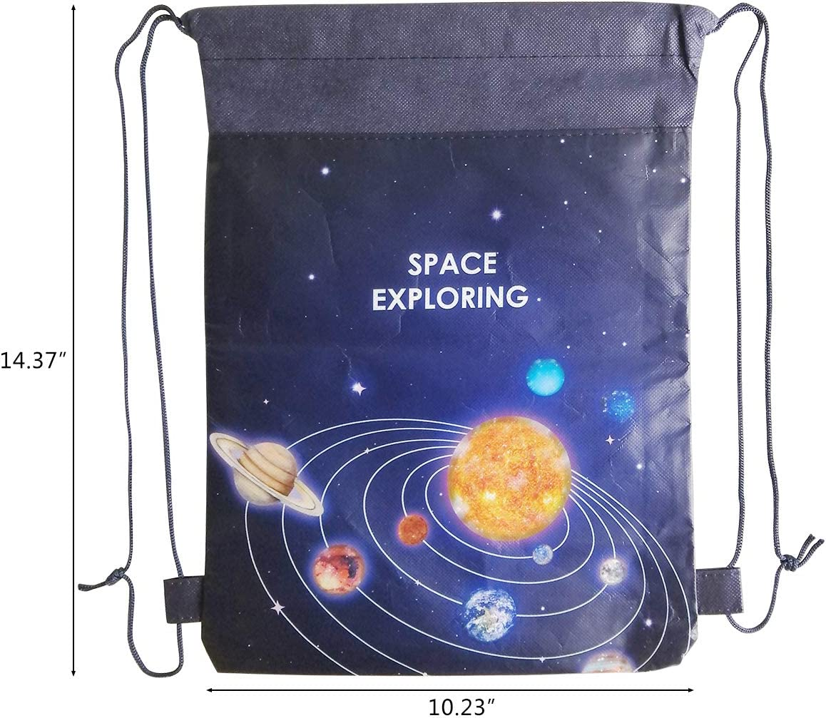 Glittered Outer Space Drawstring Bag