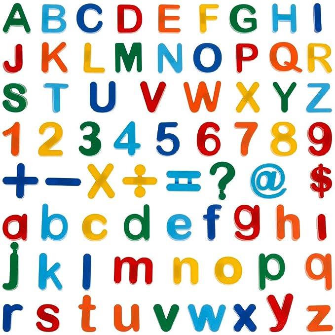Anpro 90pcs Letras y números magnéticos imanes Letras Pizarras ...