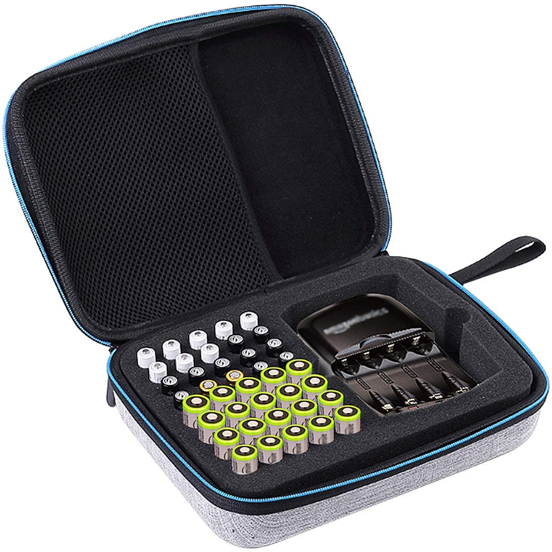 Big Trend Hard Battery Organizer Storage Box Carrying Case Bag Total 40 Batteries(Does not Include Battery and Charger) Holds 20 x AA 20 x AAA