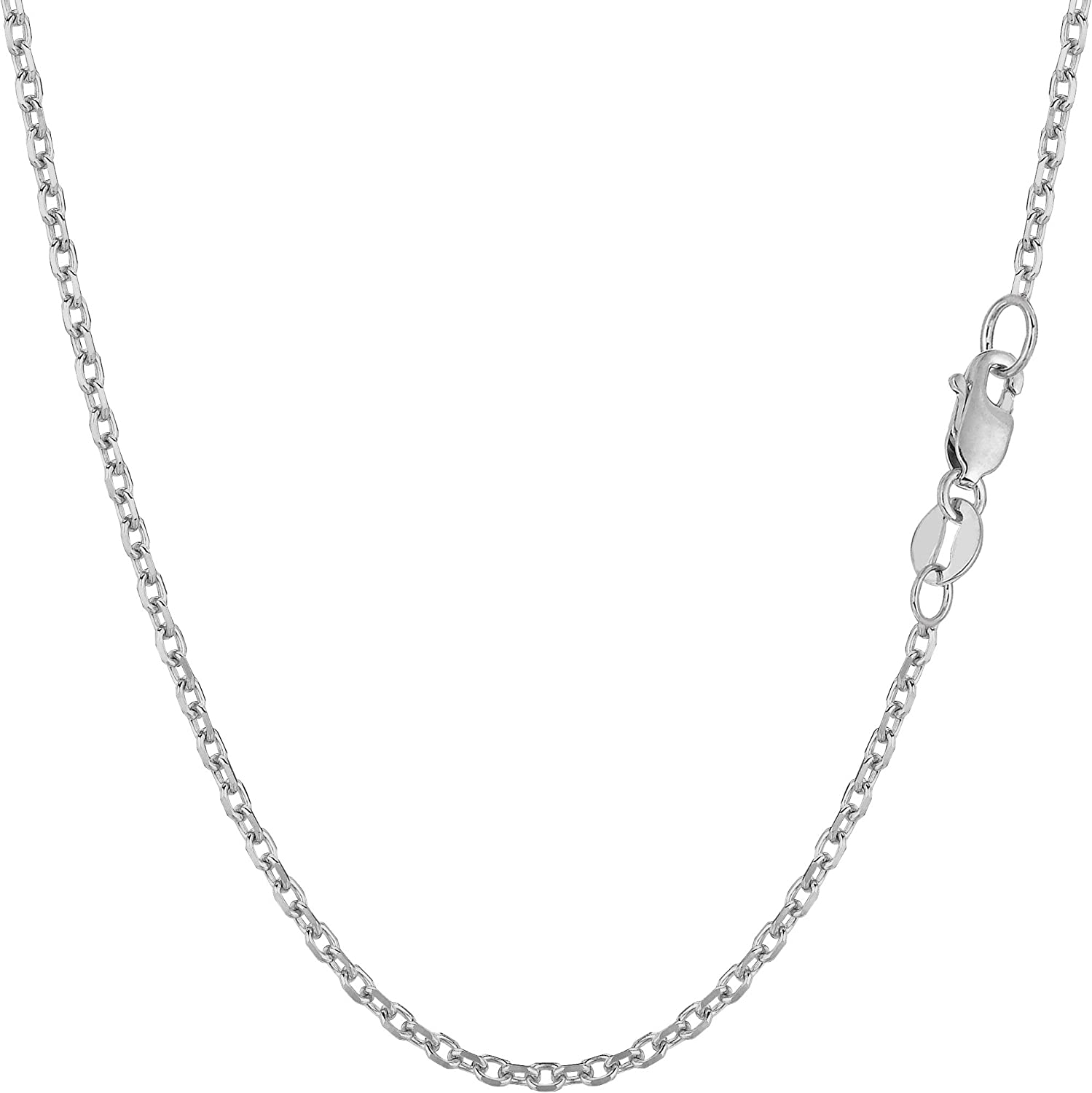 Mireval Sterling Silver Spiga Chain Necklace Collection 16-30