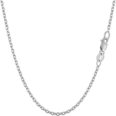 "14k Solid White Gold Figaro Link Necklace Pendant Chain 16/"" 18/"" 20/"" 24/"" 1.9mm"