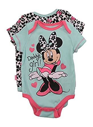 8ae59ab03cc48 Amazon.com: Disney Baby Girls Minnie Mouse Two-Pack Bodysuits: Clothing
