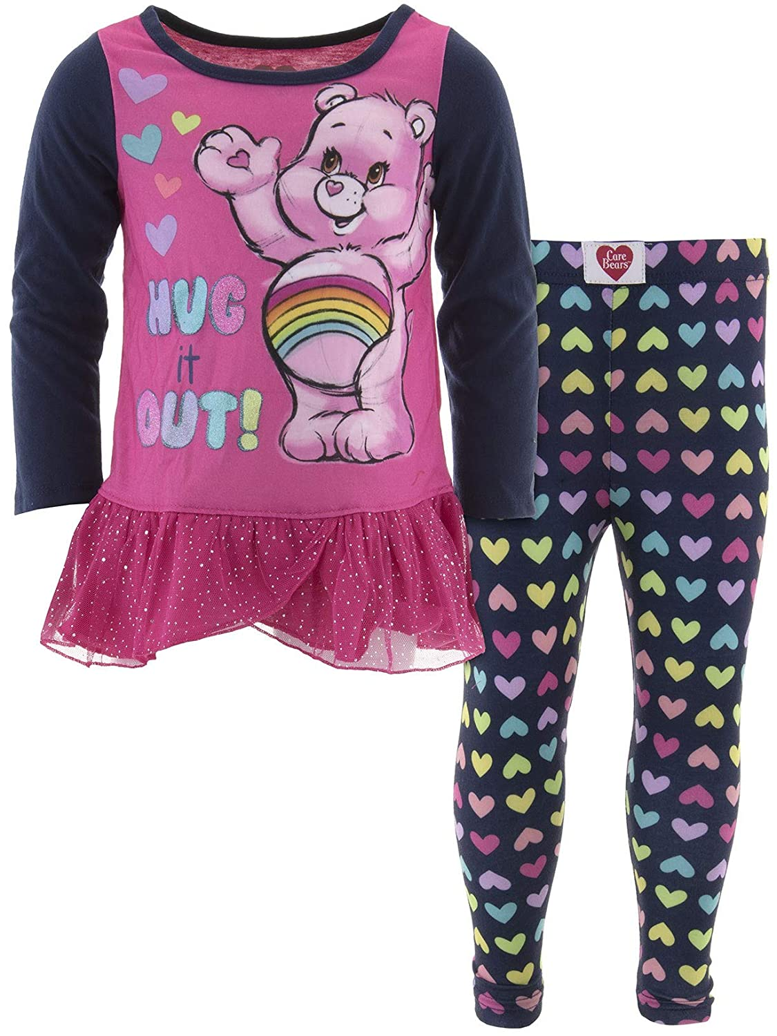 Care Bears Little Girls Hug It Out Pajamas 4T