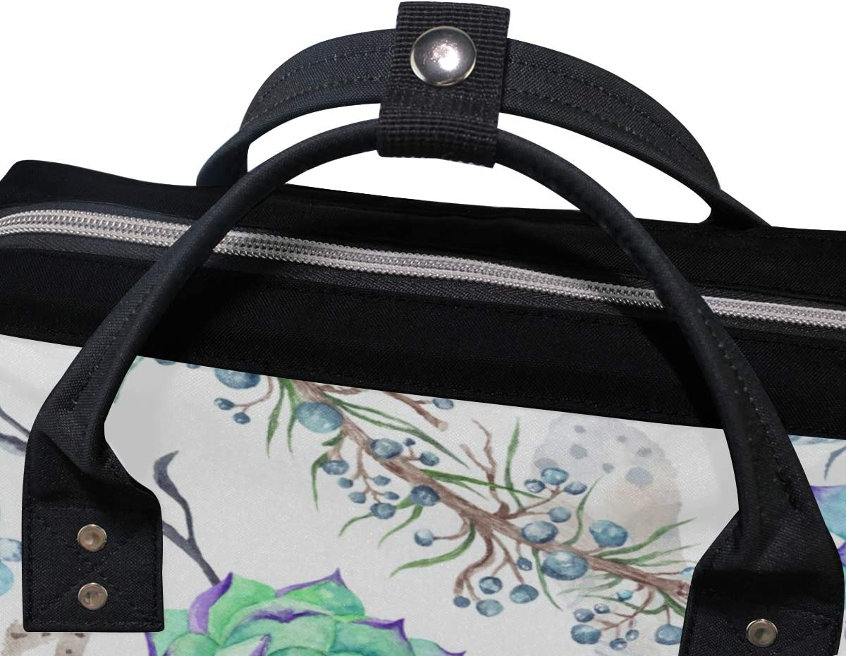 ALAZA Lightweight School Backpack Travel Handbag,Watercolor Flowers Laptop Backpack Large Casual Backpack for Students Teens Girls