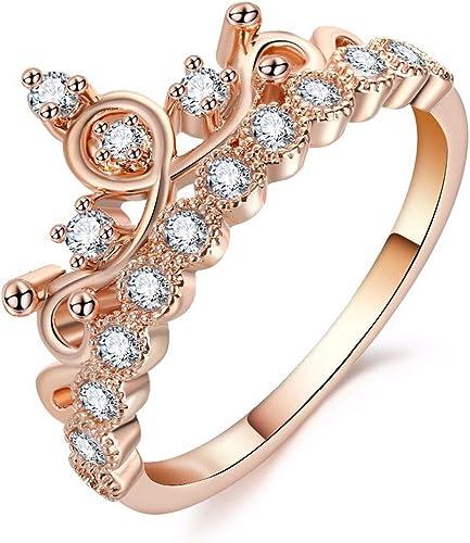 Amazon Com Luxury Crown Ring Statement Women Wedding Ring Trend
