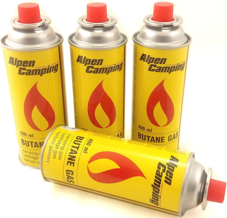 4er Pack Alpes Camping-gas butano Gaskartusche à 227 g de contenido de la botella para Camping-Kocher Outdooraktivitäten Grillen