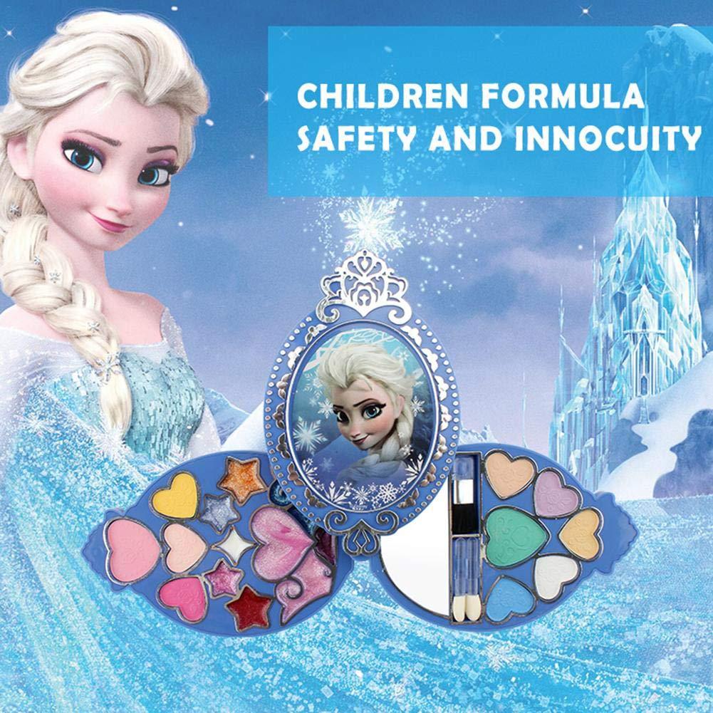 Disney Frozen Princess Makeup Kit Girl's Toy Cosmetic Set Eyeshadow & Lip Gloss & Blushes, Non-Toxic, Eco- Friendly Toy Ornaments