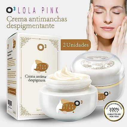 O³ Crema Antimanchas Facial Lola Pink – 2 Unidades x 30 g – Cosmética Anti-Manchas | Despigmentante Facial Para La Cara – Crema Blanqueadora Quita ...